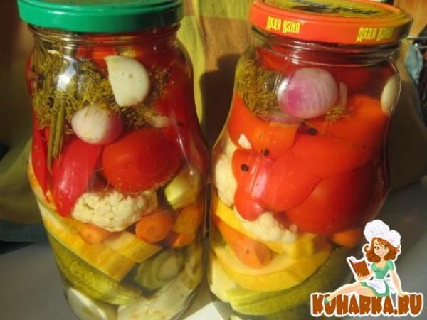 ассорти на зиму капуста помидоры перец