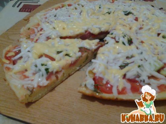 Рецепт Пицца на сковороде за 10 минут