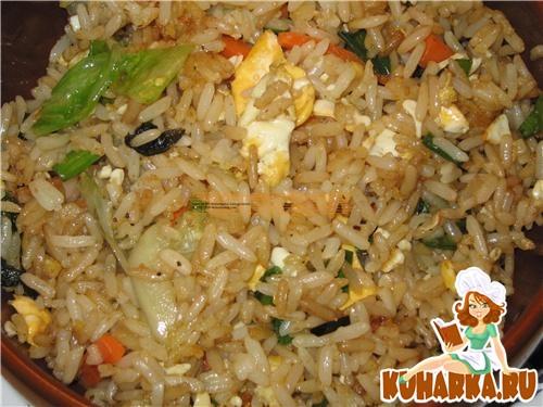 Рецепт Жареный рис по-восточному