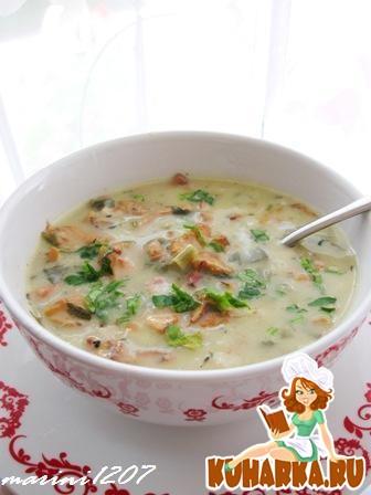 Рецепт Суп с лисичками