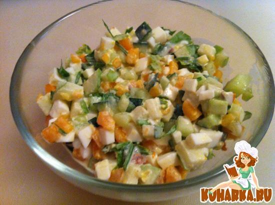 Рецепт Легкий шведский овощной салат