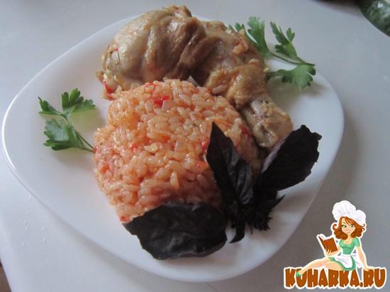 Рецепт Курица с рисом в томате.