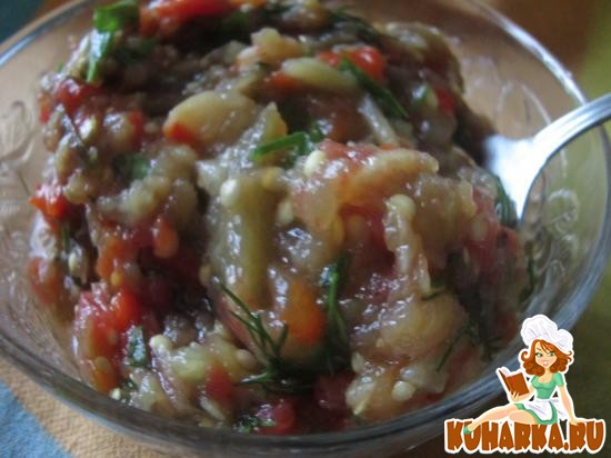 Рецепт Закуска из печеных овощей