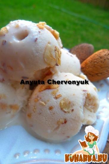 Рецепт Ореховое мороженое.