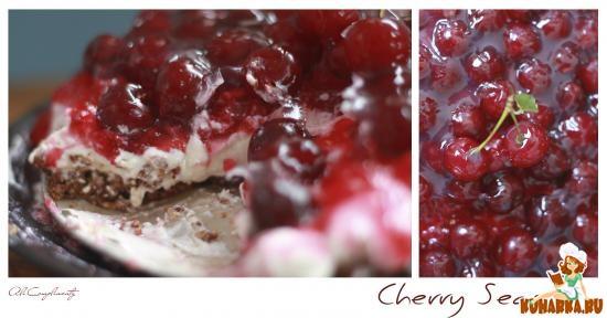 Рецепт Миндально-вишневый творожный пирог