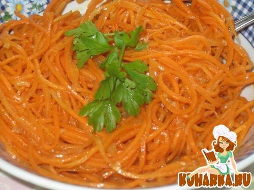 Рецепт Острая морковь по-корейски