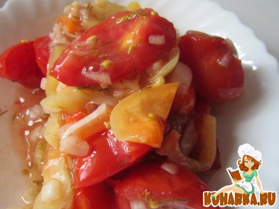 Рецепт Салат с помидорами в желе