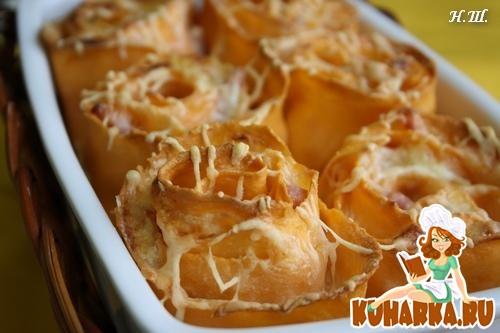 """Рецепт Лазанья """"Розы"""" четыре сыра."""