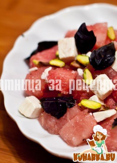 Рецепт Салат из арбуза с фетой