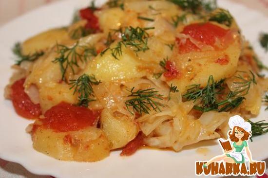 Рецепт Картошка, тушеная с овощами (в мультиварке)
