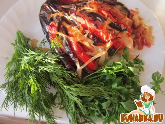 Рецепт Шашлыки в баклажане