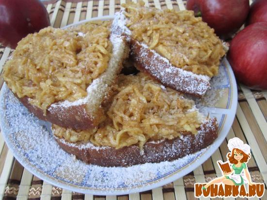 Рецепт Бутерброды «Пятиминутки» с яблоками.