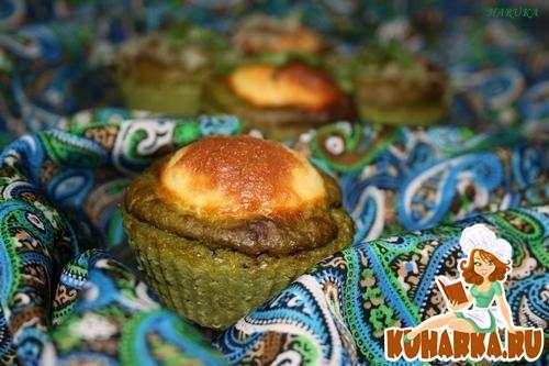 Рецепт Закусочные кексики с брокколи и творогом.