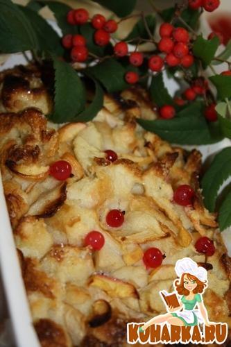 Рецепт Хлебный пудинг с яблоками.