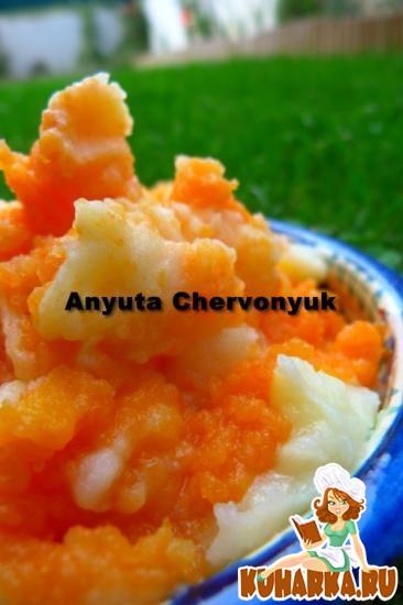 Рецепт Картофельно-тыквенное пюре.