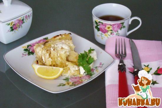 Рецепт Пирог-запеканка из лаваша с творогом