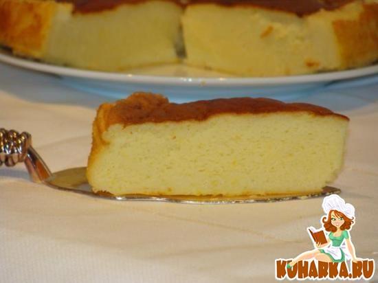 Рецепт Быстрый, нежный японский чизкейк с апельсиновой ноткой.