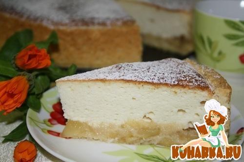 Рецепт Сырный тарт с яблоками(Нормандия).