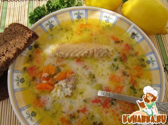 Рецепт Греческий лимонный суп.