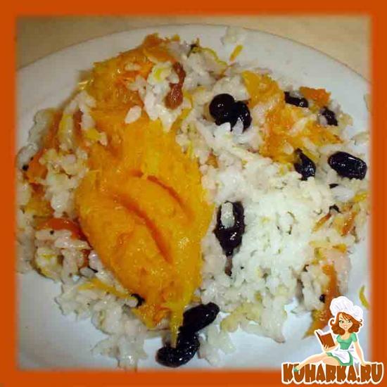 Рецепт Рисовая каша в тыкве