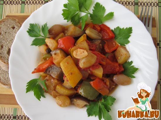 Рецепт Овощи по-французски.
