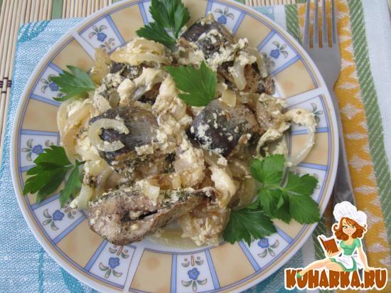 Рецепт Рыба в сметане с луком по-эстонски.