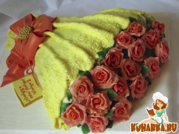торт букет цветов рецепт