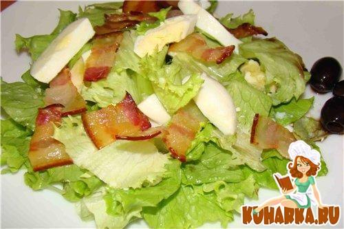 Рецепты салатов с зеленью