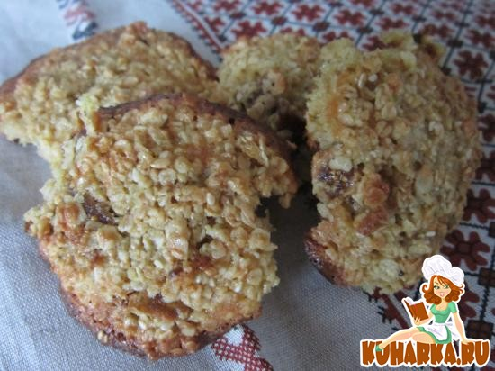 Рецепт Овсяное печенье с финиками