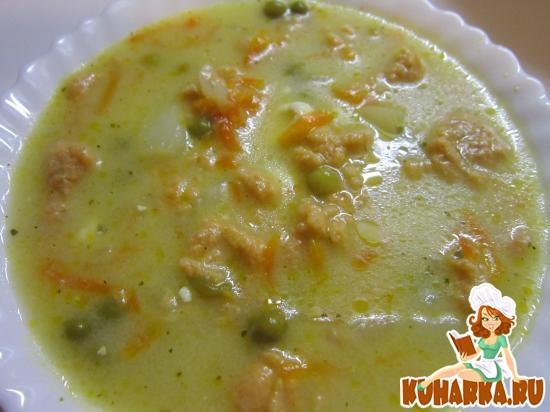 Рецепт Сырный суп с томатными клецками