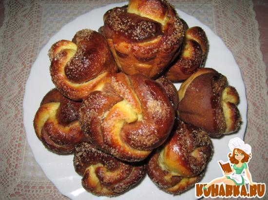 Рецепт Сахарные булочки-цветочки.