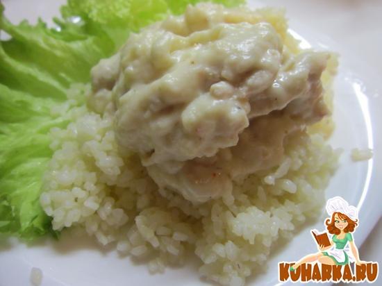 Рецепт Курица в белом соусе