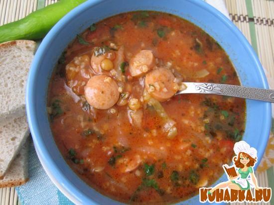 Рецепт Томатный суп с чечевицей и перцем чили.