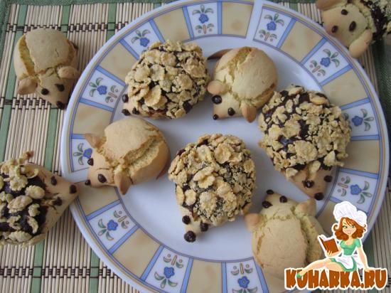 Рецепт Печенье «Ежики и мышки».