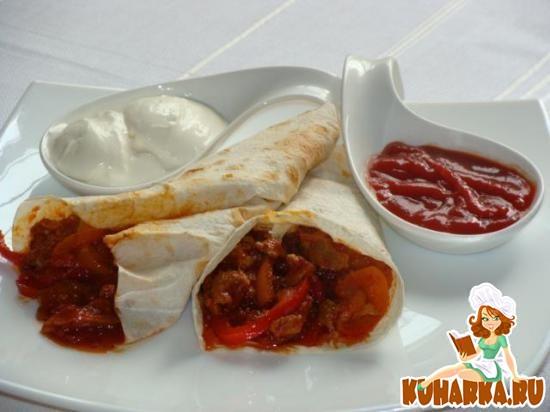 Рецепт Фахитос (мексиканская кухня)