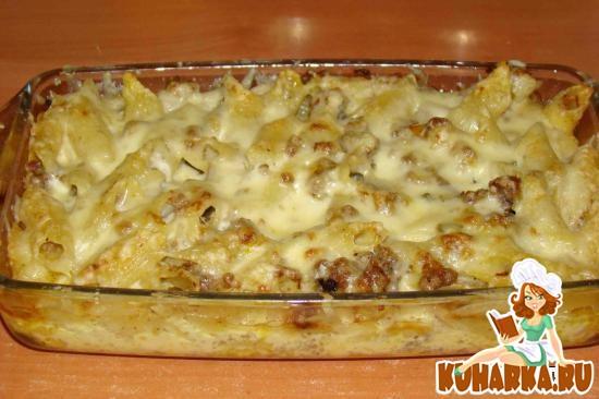 Рецепт Запеканка из макарон с мясным(куриным) фаршем