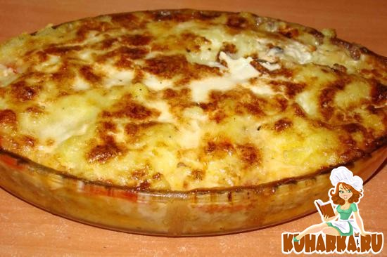 Рецепт Запеканка из картофеля с мясом и кабачками