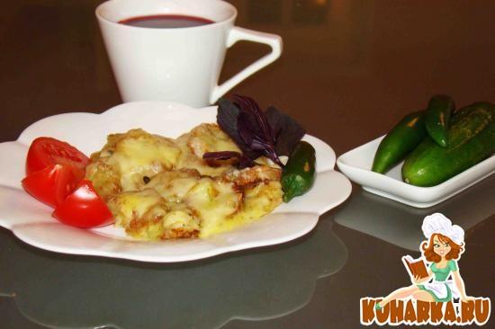 Рецепт Куриное филе с кабачками тушеное в сметане
