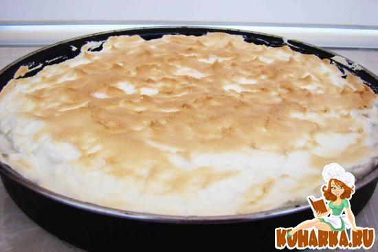 Рецепт Лимонный пирог с абрикосовым джемом