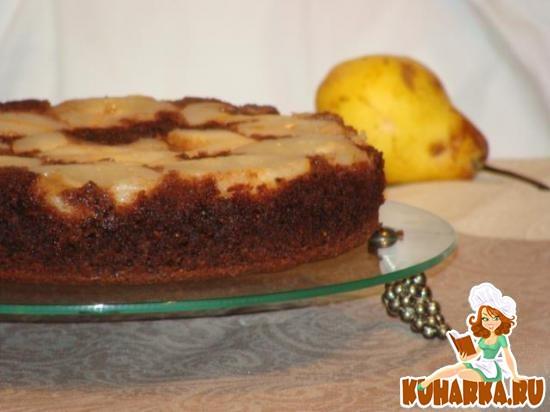 Рецепт Шоколадный пирог с грушами