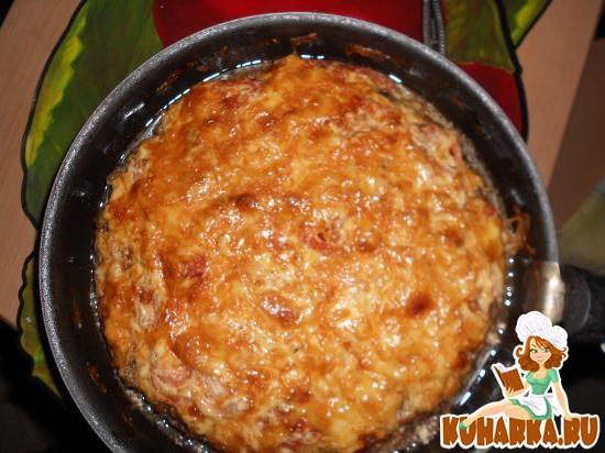 Рецепт Лепешка из фарша или мясная пицца