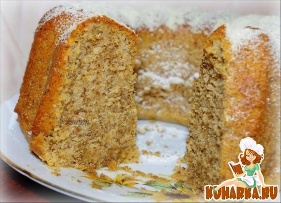 Рецепт Апельсиновый кекс с грецкими орехами