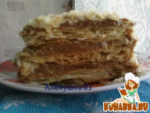 Рецепт торт наполеон с вареной сгущенкой с фото