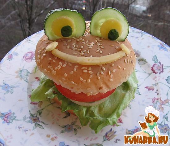 Рецепт Гамбургер-лягушка