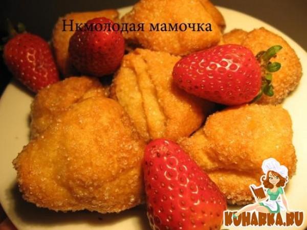 Слоистое сахарное печенье за 20 минут – кулинарный рецепт