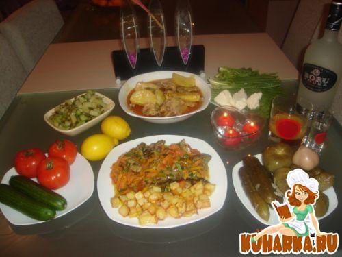 Рецепт Куриные потроха с овощами