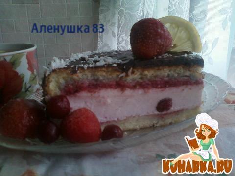 "Рецепт Бисквит с суфле ""Снежок"""