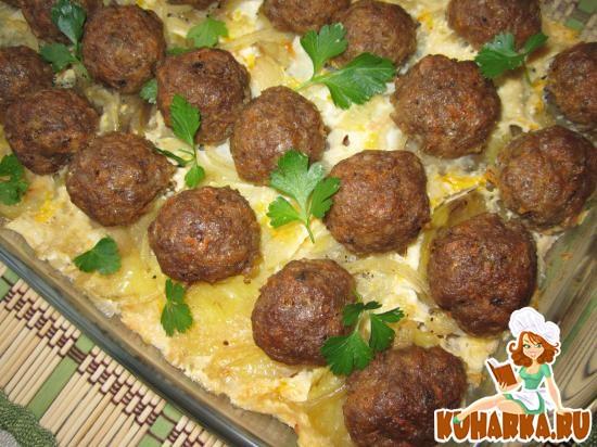 Рецепт Мясная запеканка с картофелем.