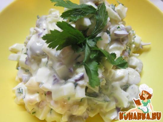 Рецепт Яичный салат с оливками