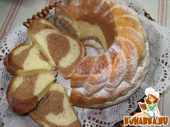 Рецепт Дрожжевой мраморный кекс.